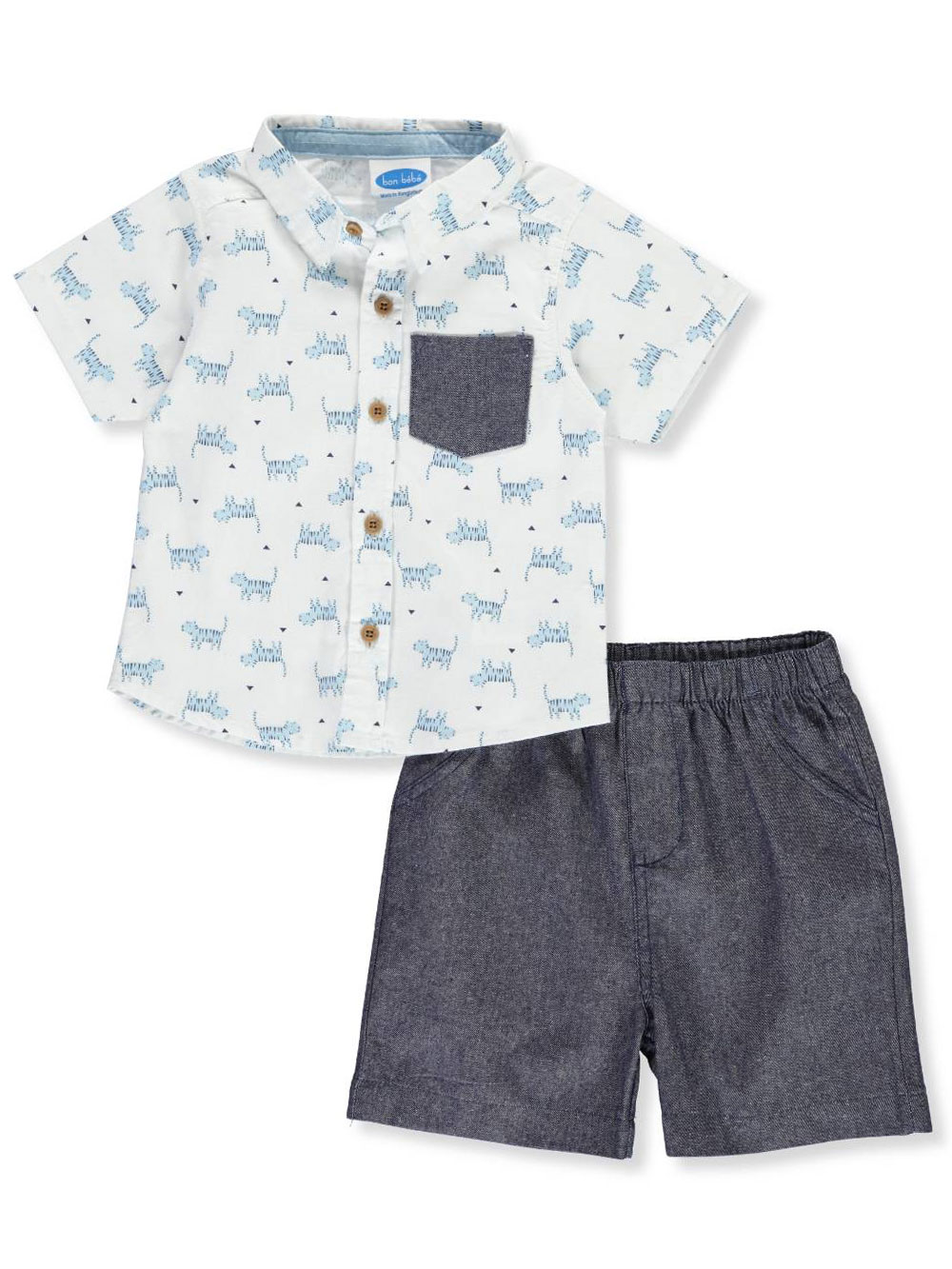 7280feccb Bon Bebe Baby Boys  2-Piece Shorts Set Outfit