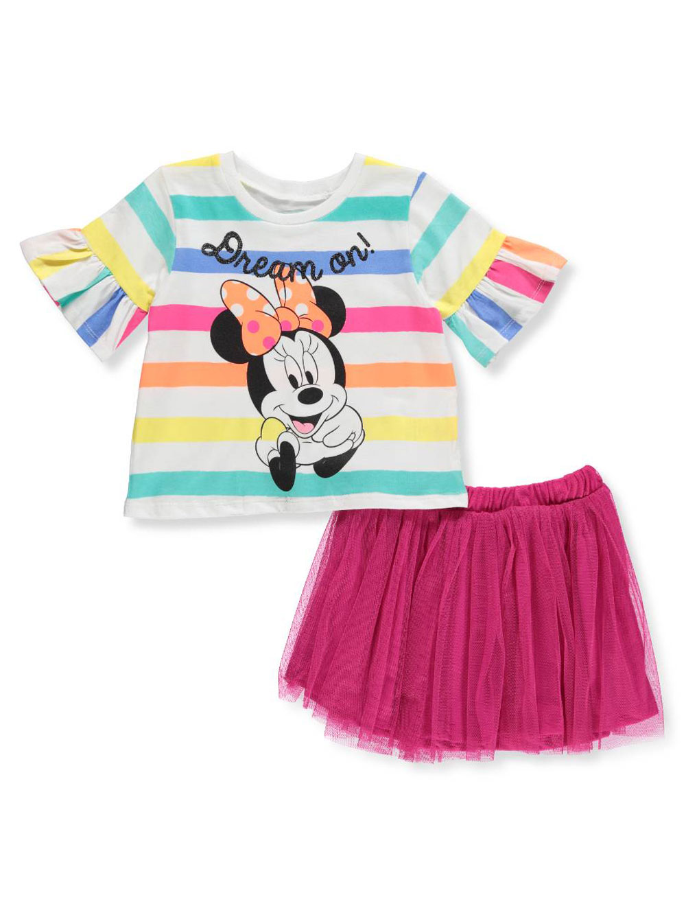 c6941012bc Disney Minnie Mouse Girls  2-Piece Skirt Set Outfit