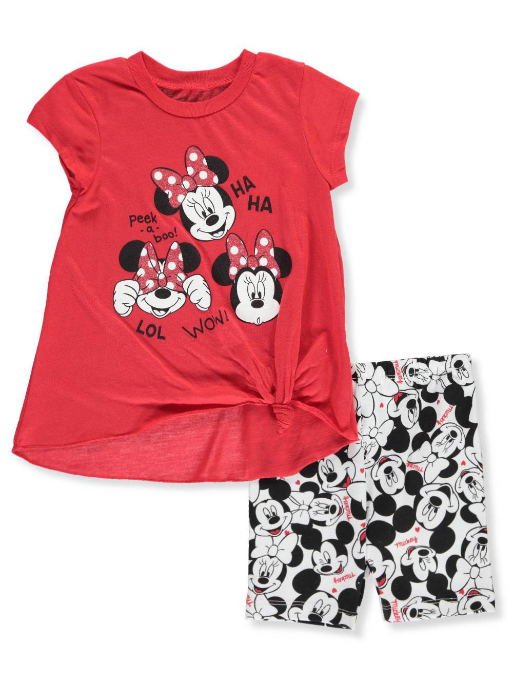 30cd2ee79 Disney Minnie Mouse Baby Girls' 2-Piece Bike Shorts Set Outfit