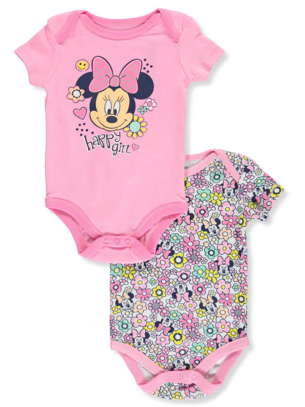 b5c7d72678df5 Disney Minnie Mouse Baby Girls' 2-Pack Bodysuits
