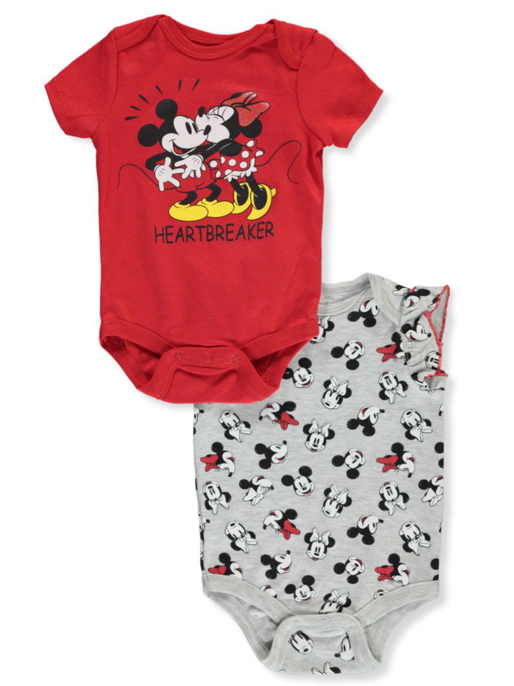 3 X 3Pack 9 White Disney Unisex Bodysuit//Onsies With Snap Buttons