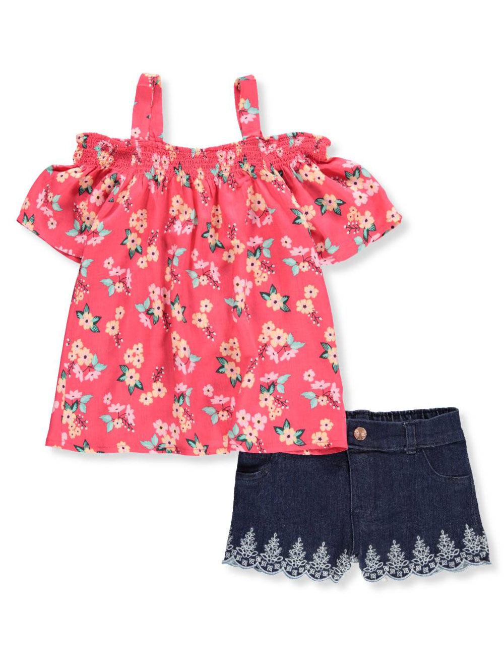 f59e923c9 Famous Brand Baby Girls  2-Piece Short Set Outfit