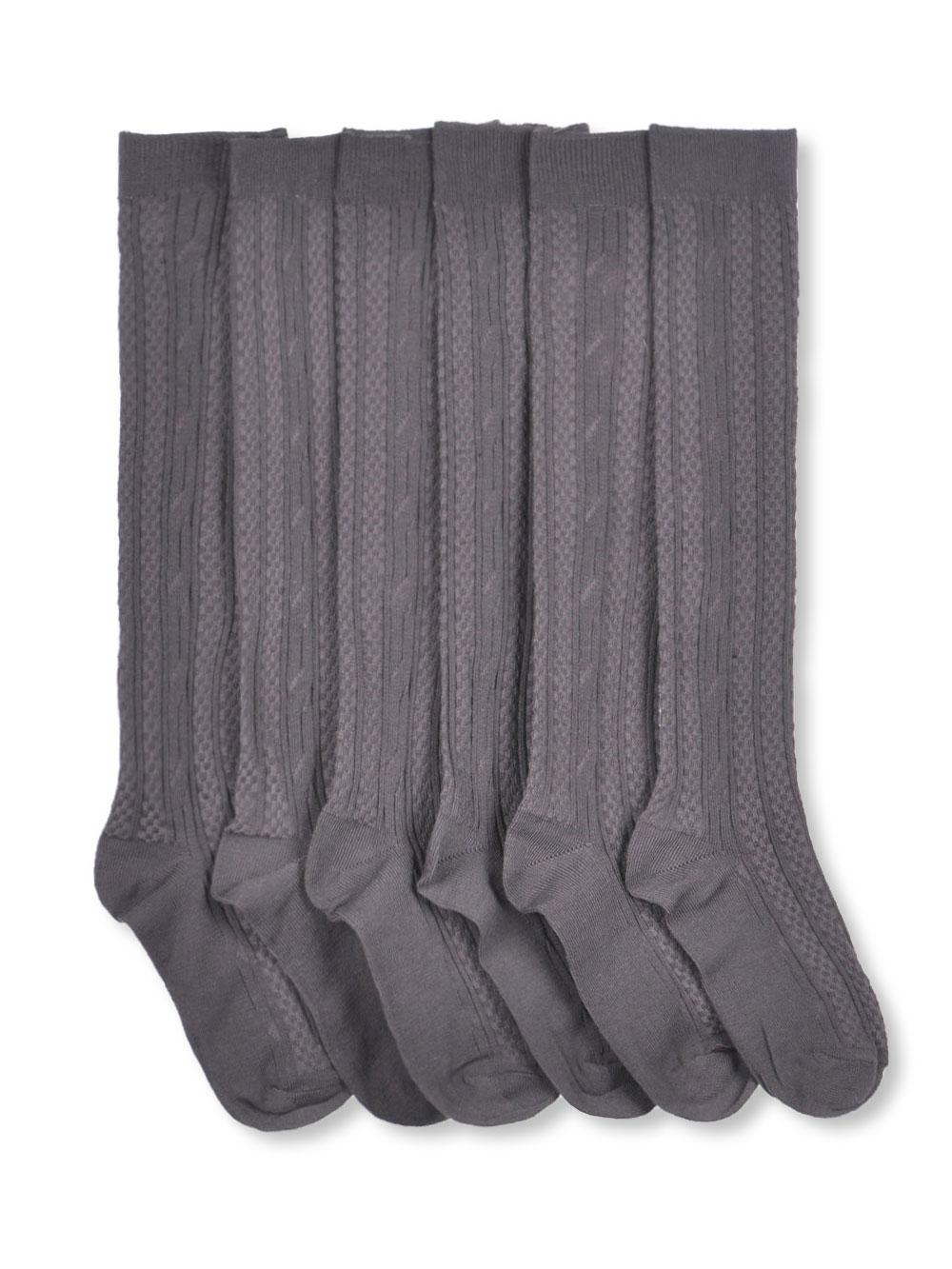 Blue  Heaven Blue Heaven Girls Blue Heaven Cable Knee Socks (Sizes 6 - 11) - gray, 9 - 11