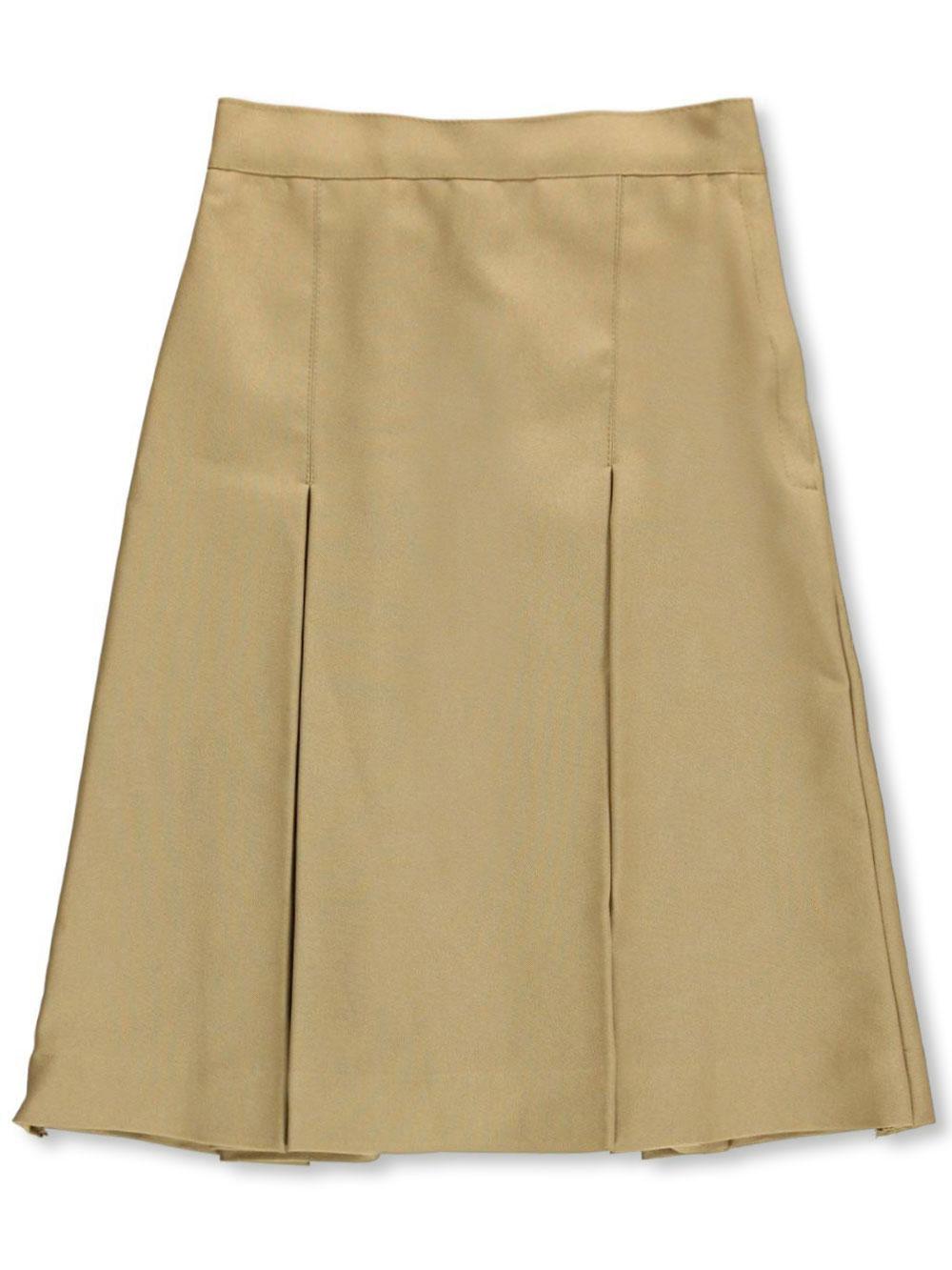 Image of Cookies Brand School Uniform Cookies Brand School Uniform Big Girls Junior Pleated Side Button Skirt  khaki junior 5