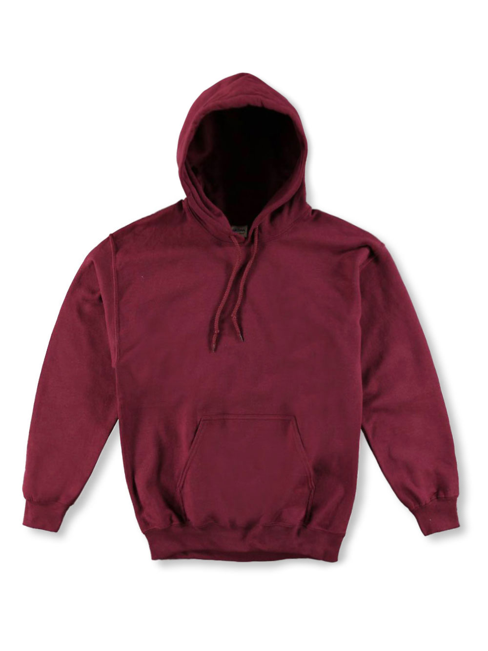 Image of Gildan Basic Fleece Hoodie Adult Sizes S  XL  burgundy m