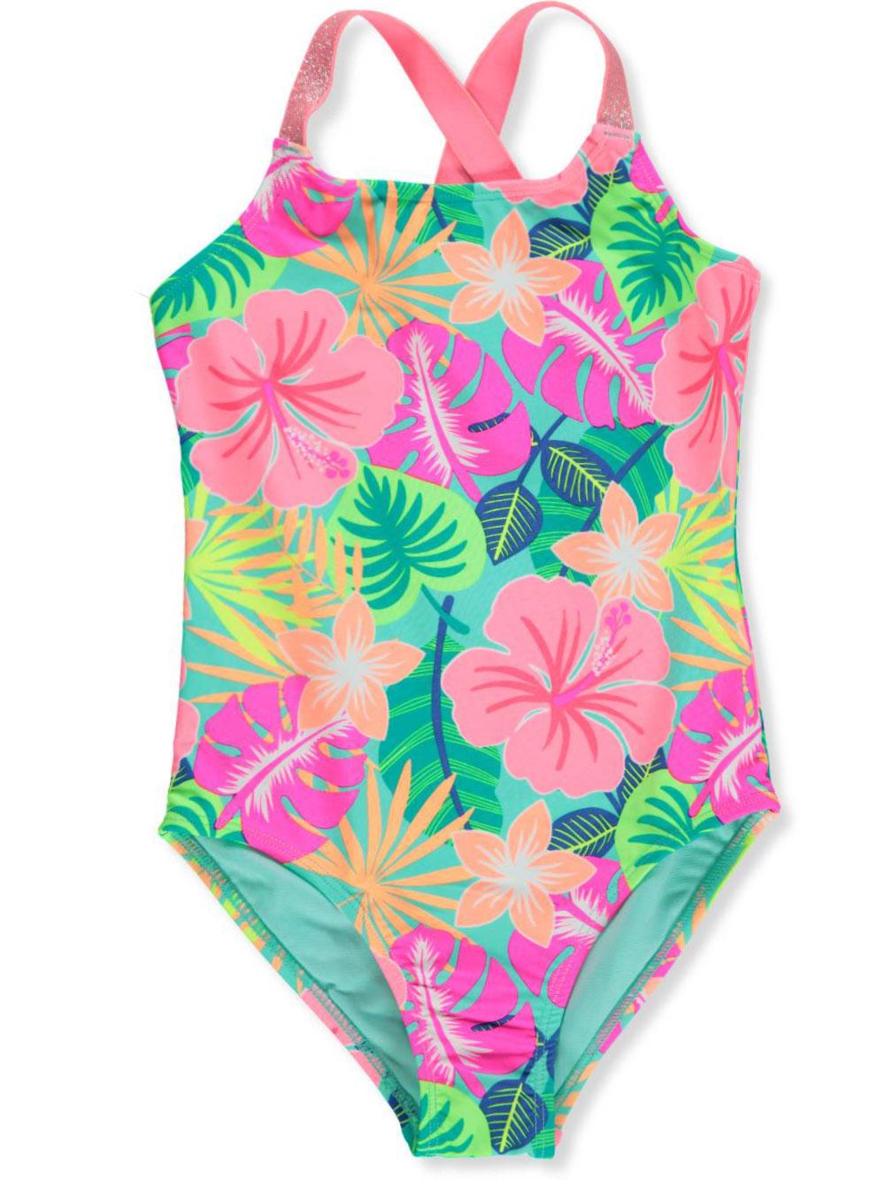 2e293b77bd Breaking Waves Girls' 1-Piece Swimsuit