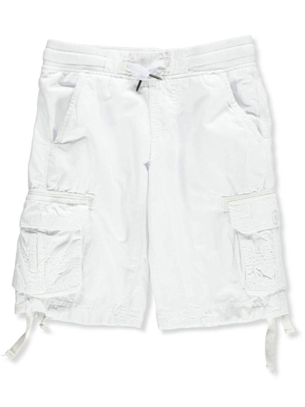 ce07ad479d Boys' Twill Cargo Shorts by Monarchy in black, red and white from ...