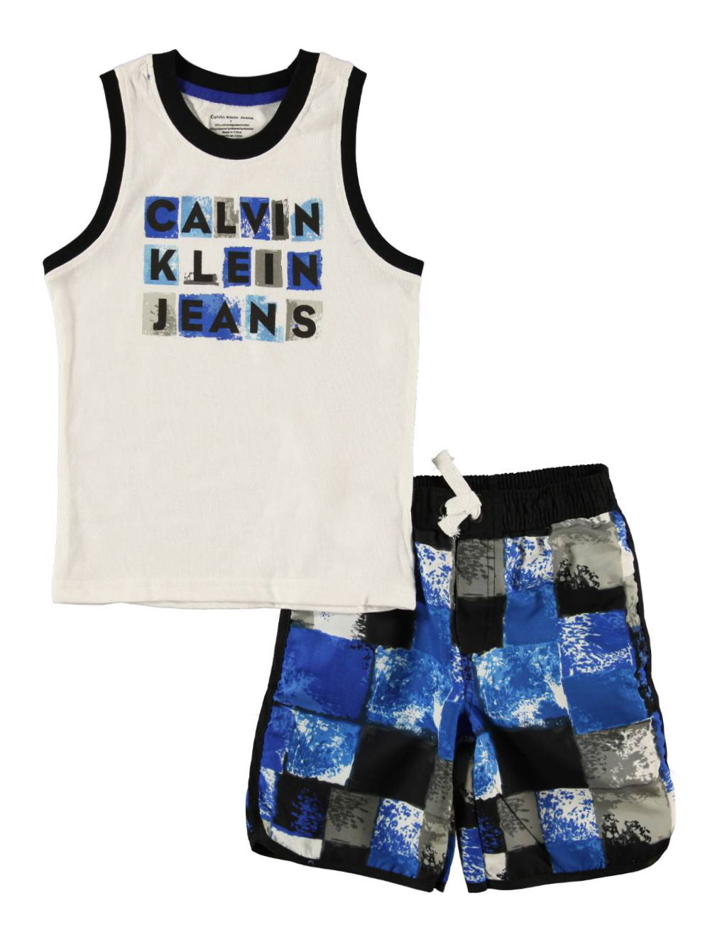 """Calvin Klein Little Boys' """"Aquatic"""" 2-Piece Outfit (Sizes 4 - 7) at Sears.com"""