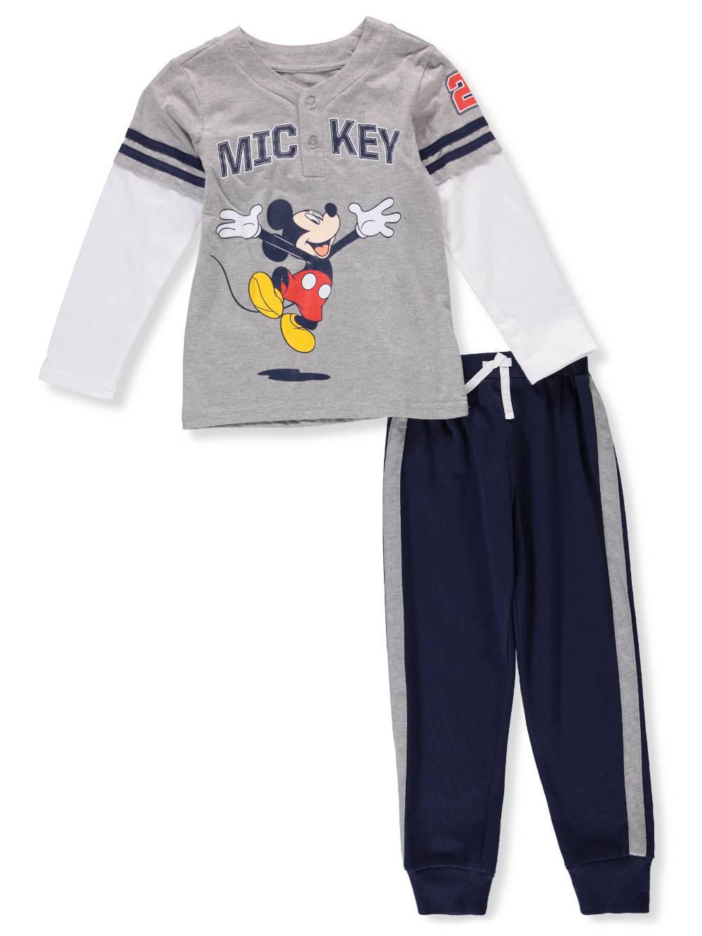 e97350ef0 Disney Mickey Mouse Boys' 2-Piece Pants Set Outfit