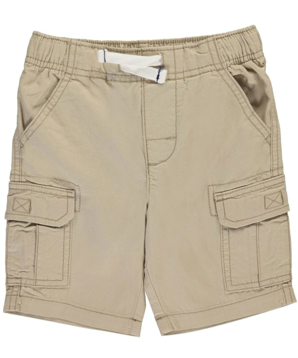 Image of Carters Little Boys Toddler Twill Solid Cargo Shorts Sizes 2T  4T