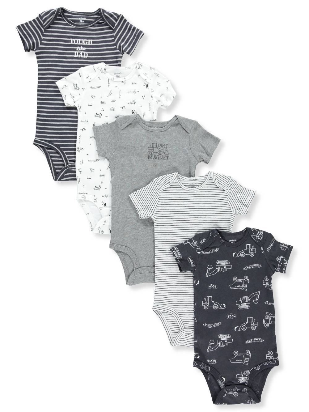 94df55b96 Carter's Baby Boys' 5-Pack Bodysuits