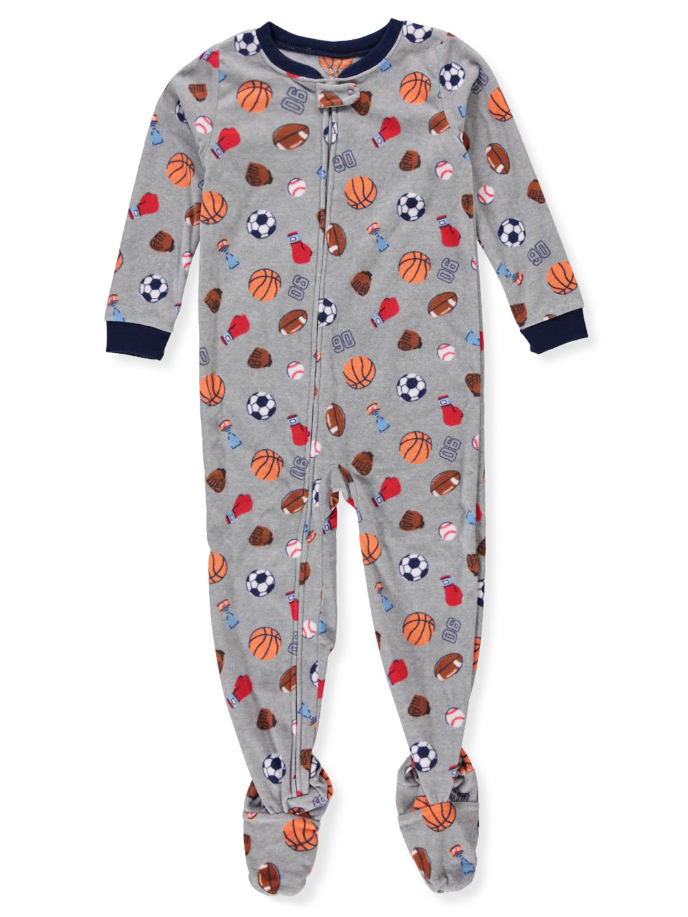 fb9813bfa Boys' 1-Piece Footed Pajamas by Carter's in Gray multi from Cookie's ...