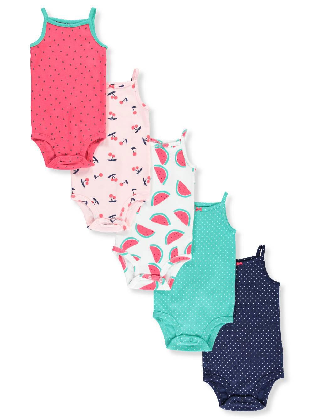 Carter S Baby Girls 5 Pack Sleeveless Bodysuits