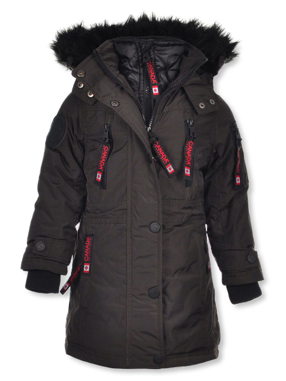 4632bd462 Canada Weather Gear Girls' Insulated Parka
