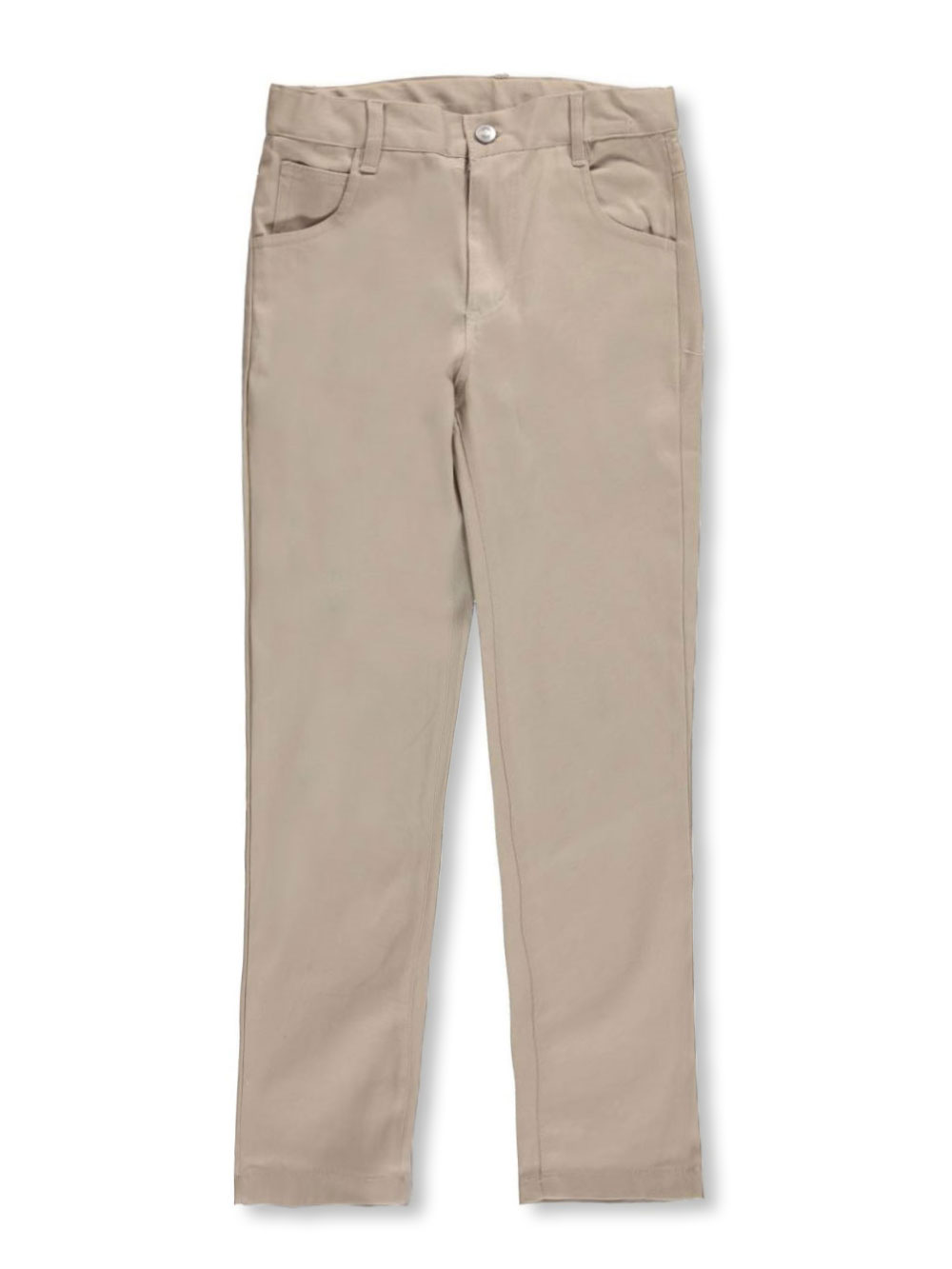 Image of Denice Stretch Big Girls Jean Pocket Skinny Uniform Pants Sizes 7  16  khaki 7