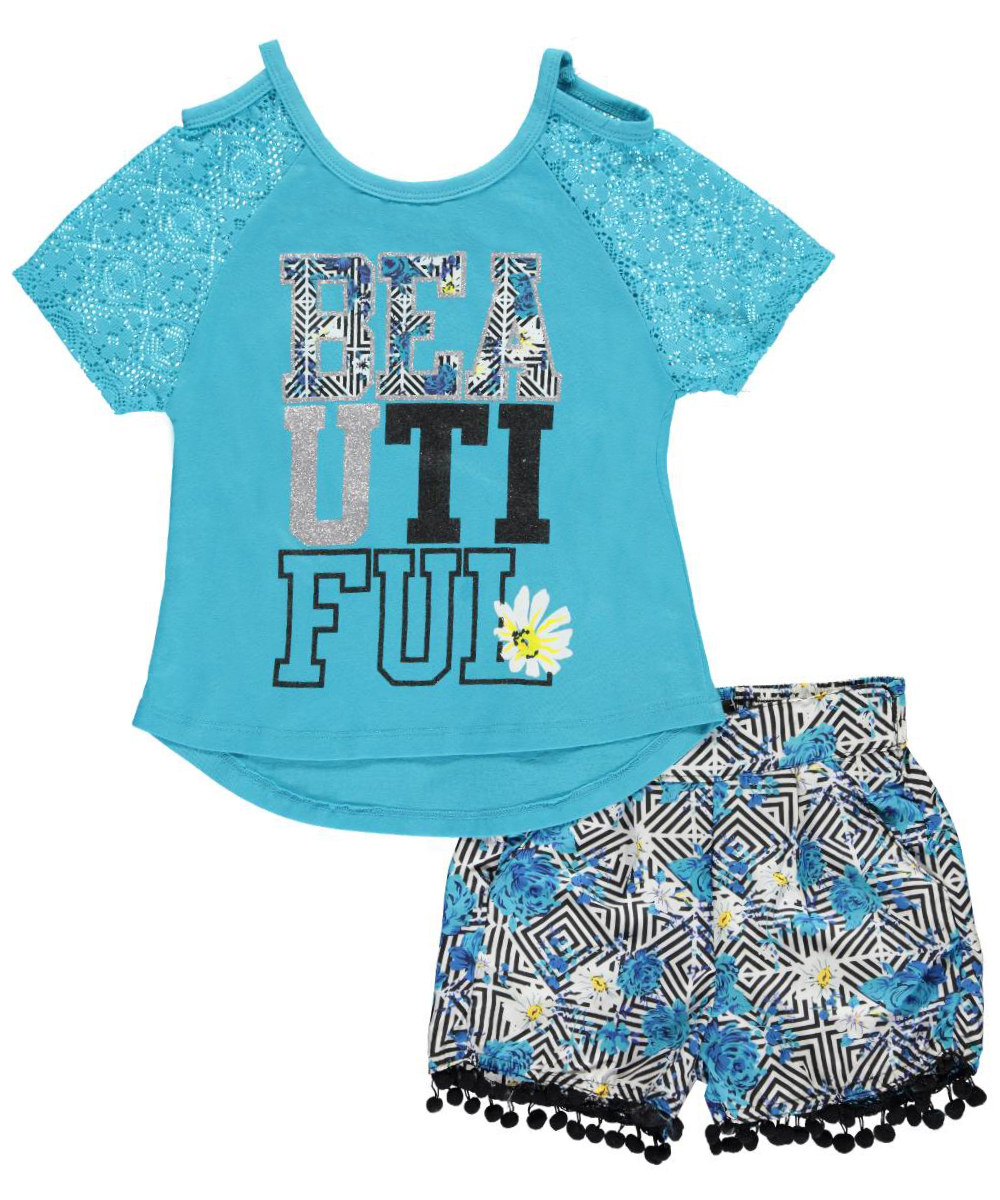 Image of Dollhouse Big Girls Beautiful 2Piece Outfit Sizes 7  16  turquoise 1416