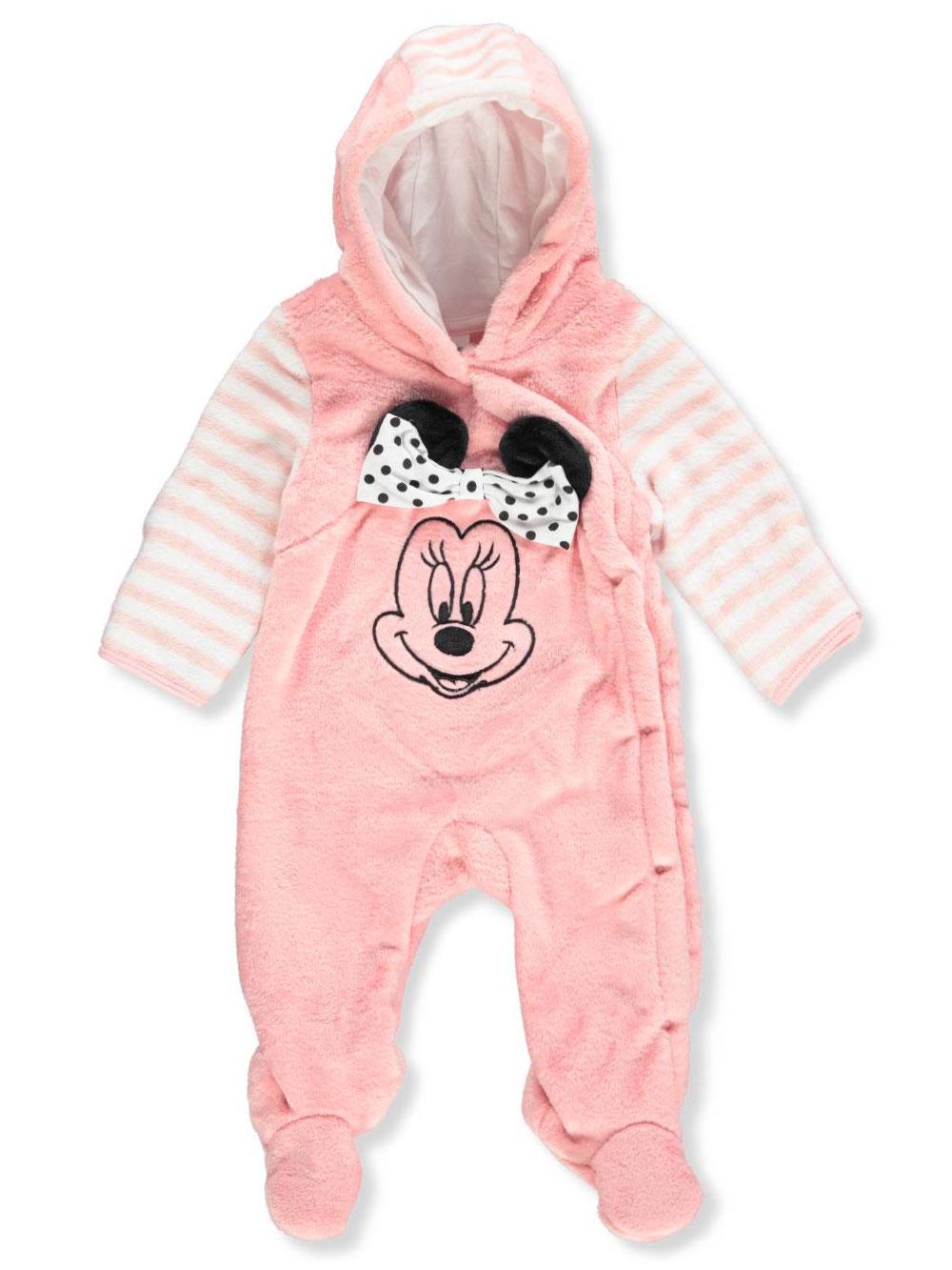 86c53430f Disney Minnie Mouse Baby Girls  Hooded Pram Suit