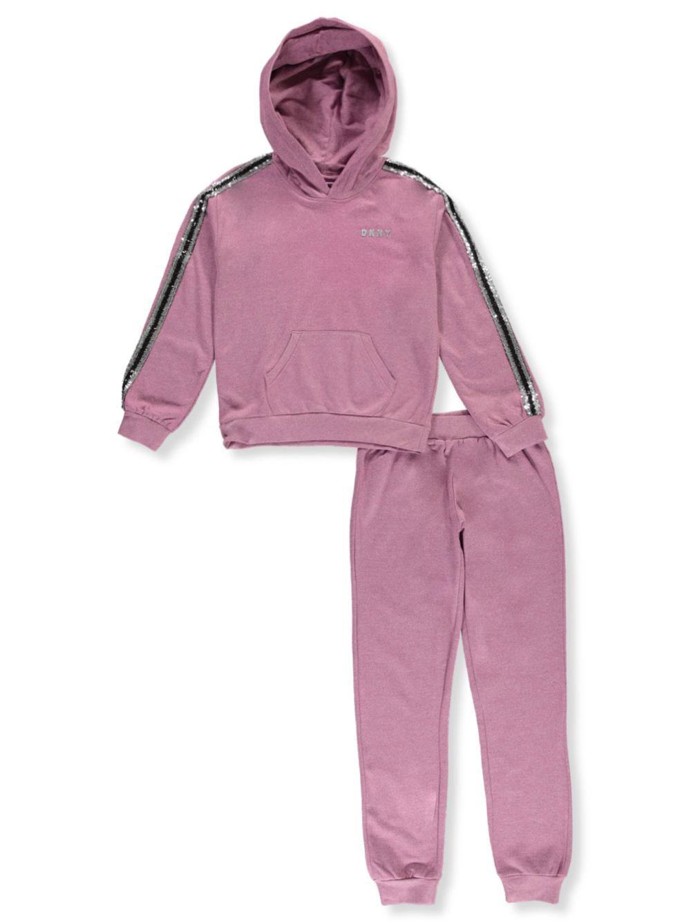 largest selection of fashion styles elegant appearance Sequin Stripe 2-Piece Sweatsuit Pants Set by DKNY in Mauve