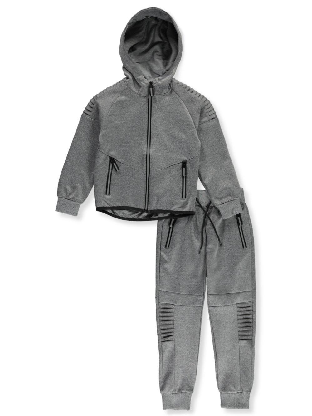 Pro Athlete Boys Logo Trim 2-Piece Sweatsuit Pants Set
