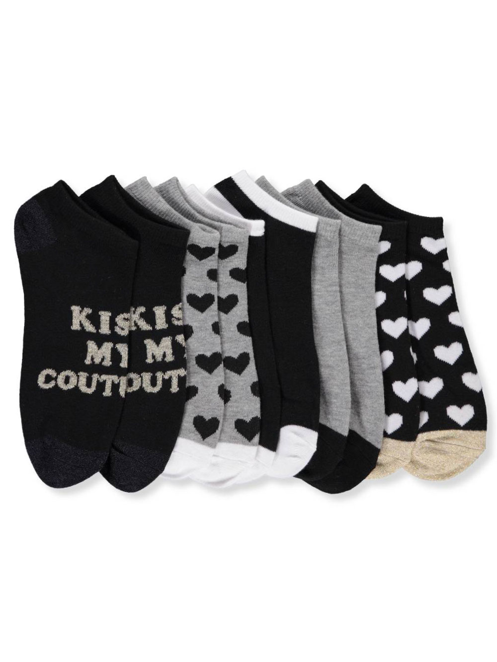 50e9a0e2d Juicy Couture Girls' 5-Pack Low Cut Socks (Sizes 6 – 11)