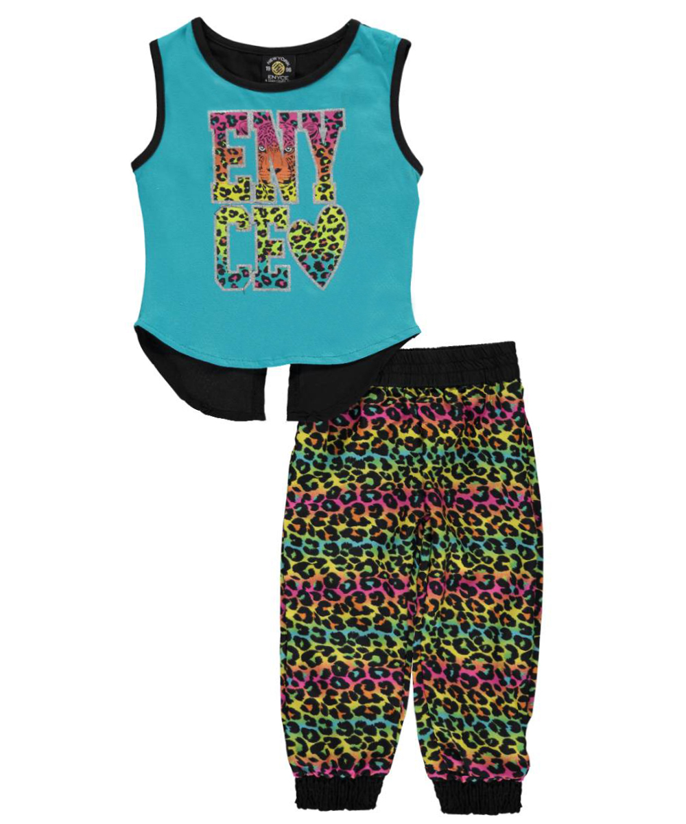 Image of Enyce Baby Girls Split Second 2Piece Outfit  turquoise 18 months