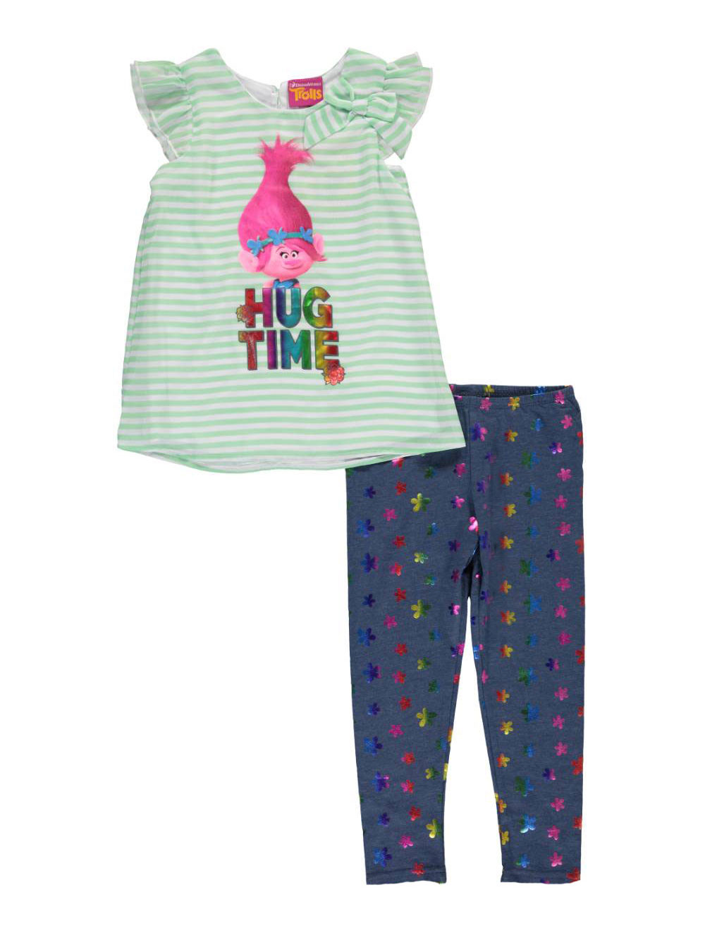 "Trolls Little Girls' Toddler ""Hug Time"" 2-Piece Outfit  -"