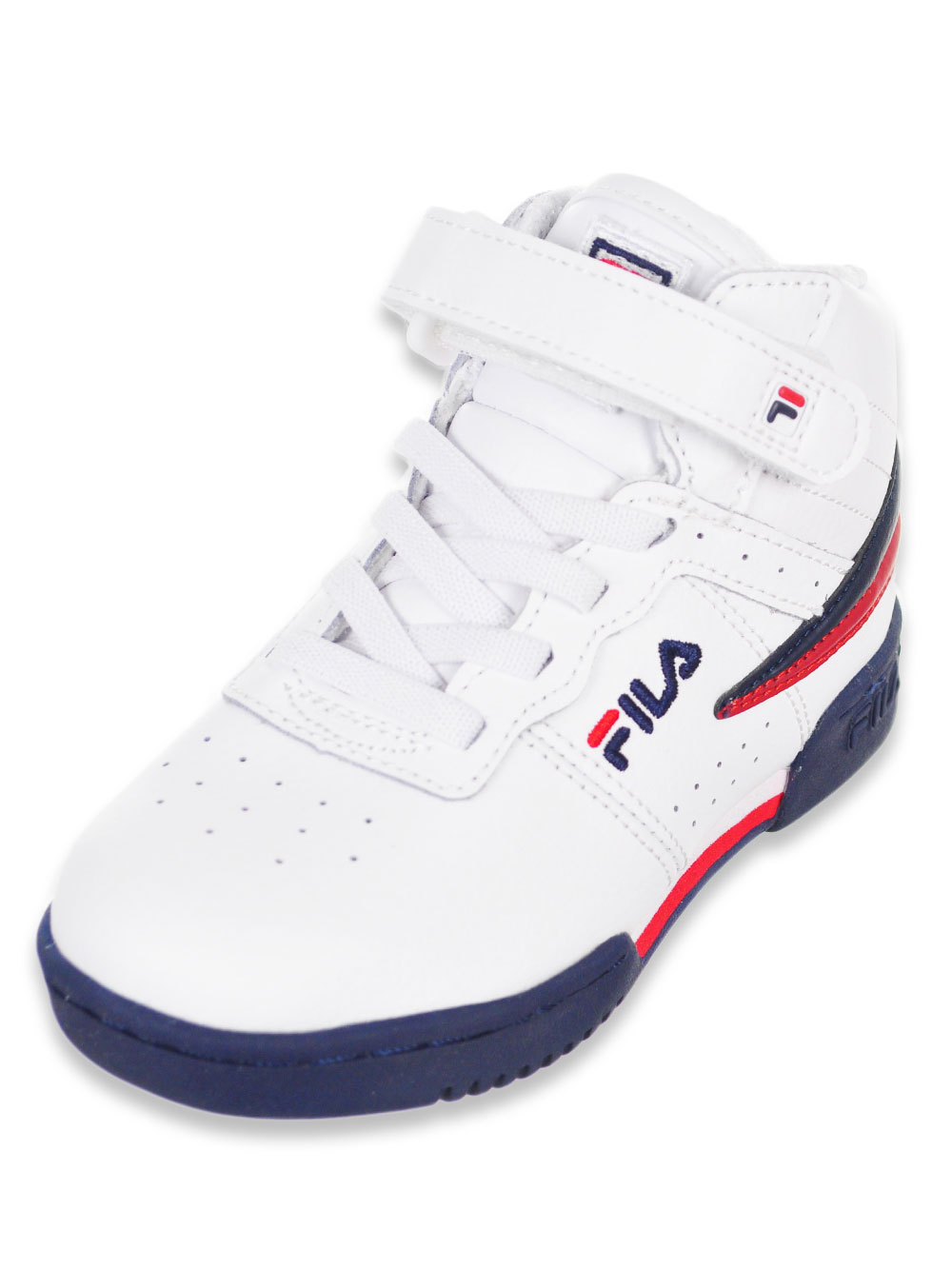b7414a791244 Boys' F-13 Hi-Top Sneakers by Fila in black/white/fred, navy/white ...