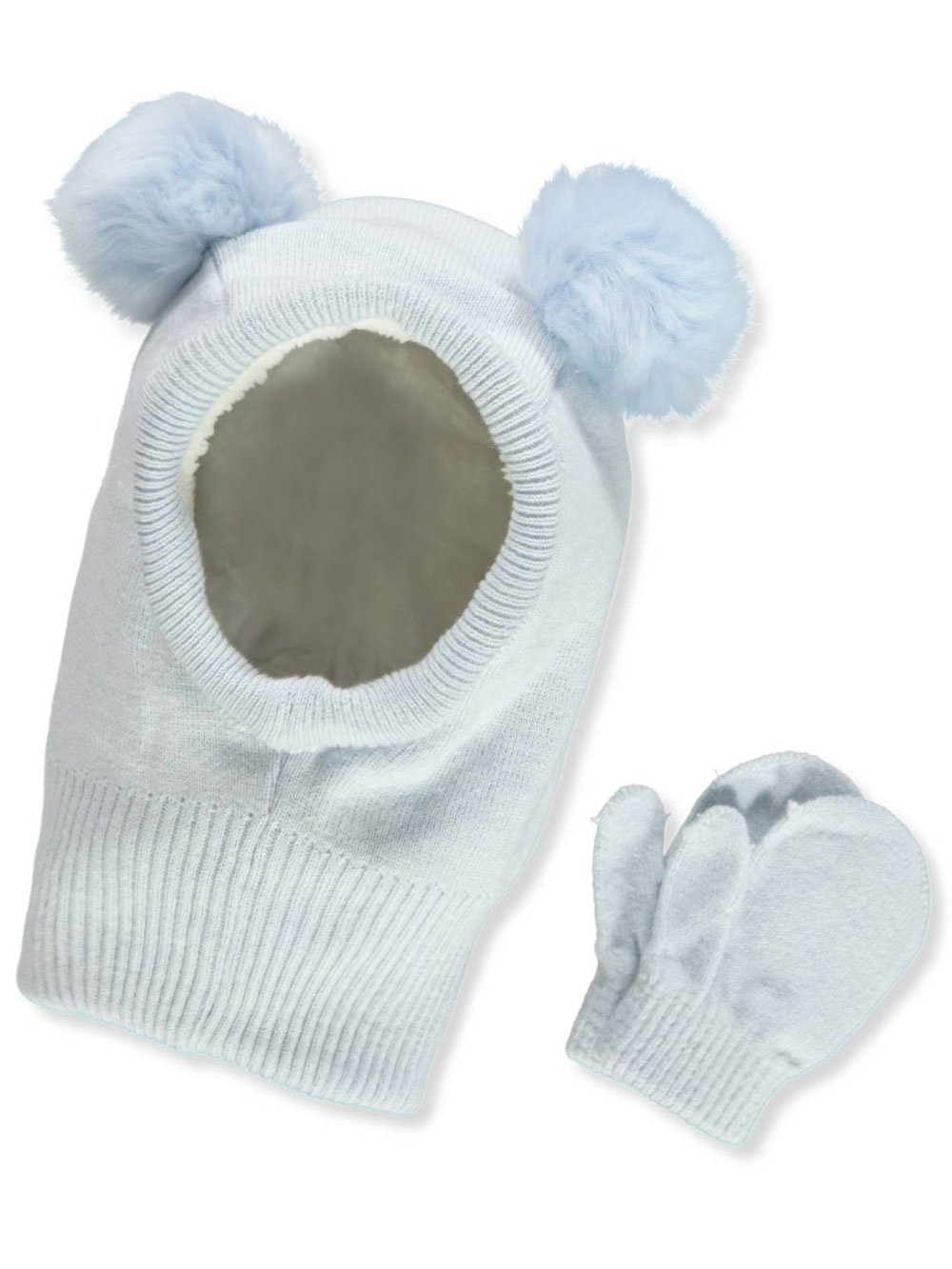 cf6105e4 Boys' Neckwarmer Hat & Mittens Set by Galeez in Blue from Cookie's Kids