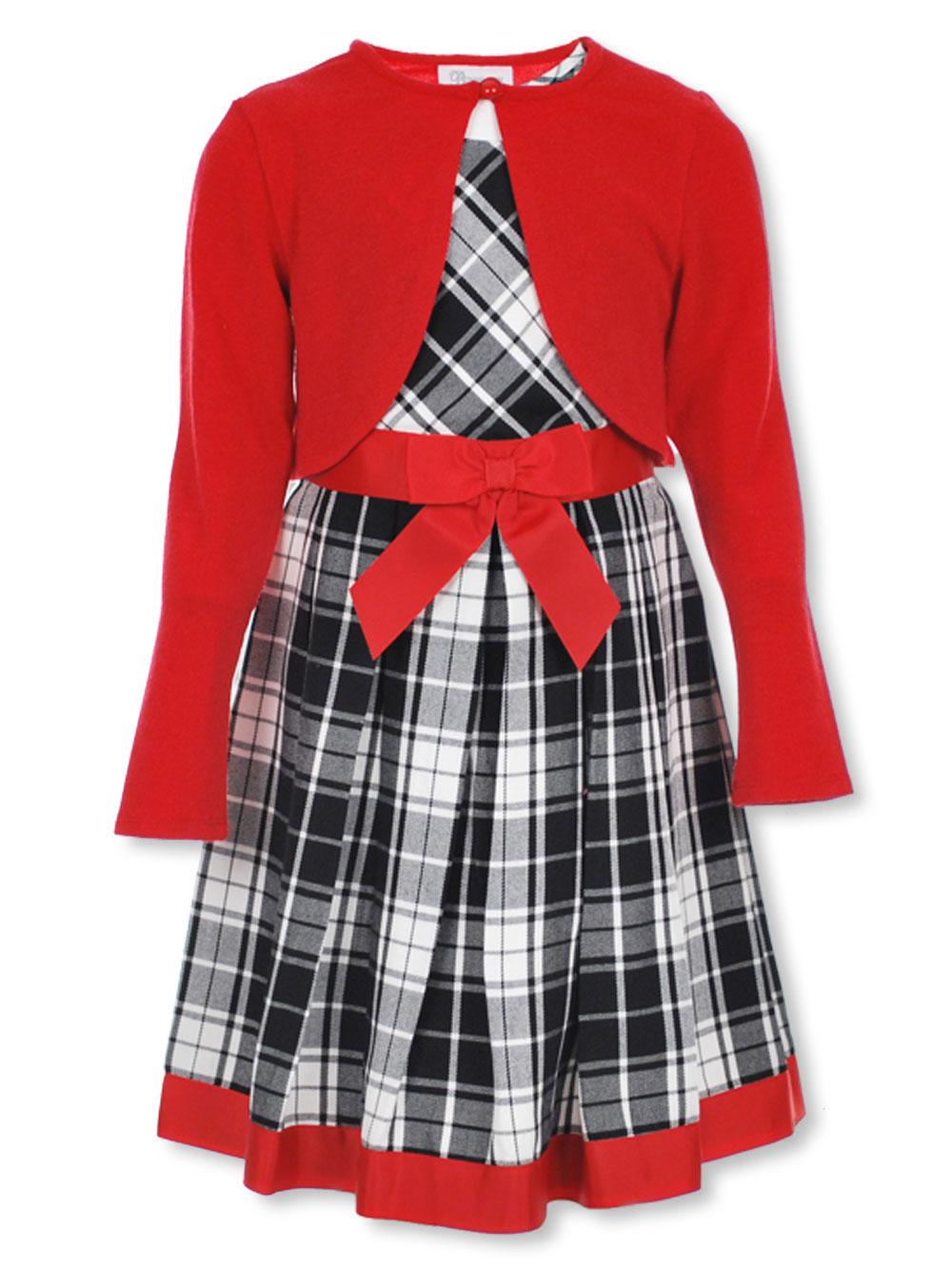 18ba42bcd Bonnie Jean Girls  Dress with Cardigan