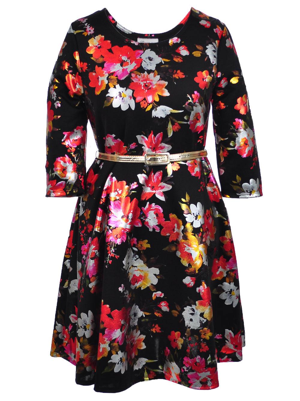 f016bdbf7c06 Bonnie Jean Girls  Belted Plus Size Dress