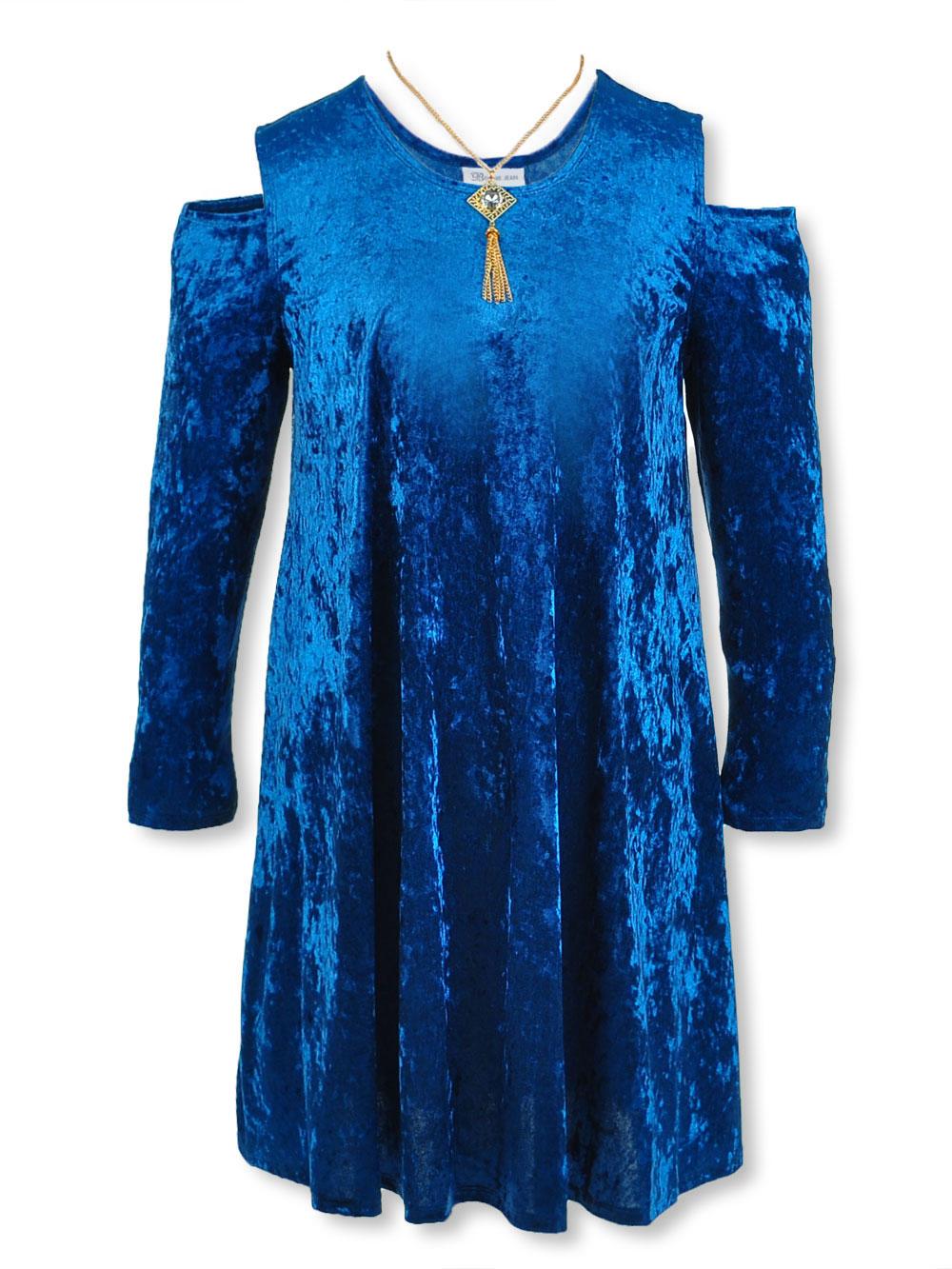 91953c75d8e Bonnie Jean Girls' Big Girls' Plus Size Dress with Necklace