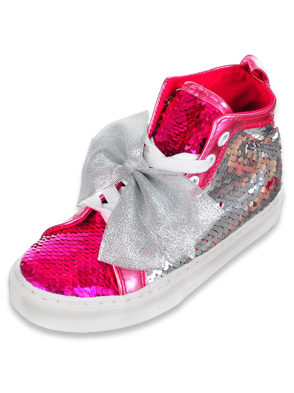Girls Hi Top Sneakers By Jojo Siwa In Pink Silver From Cookie S Kids