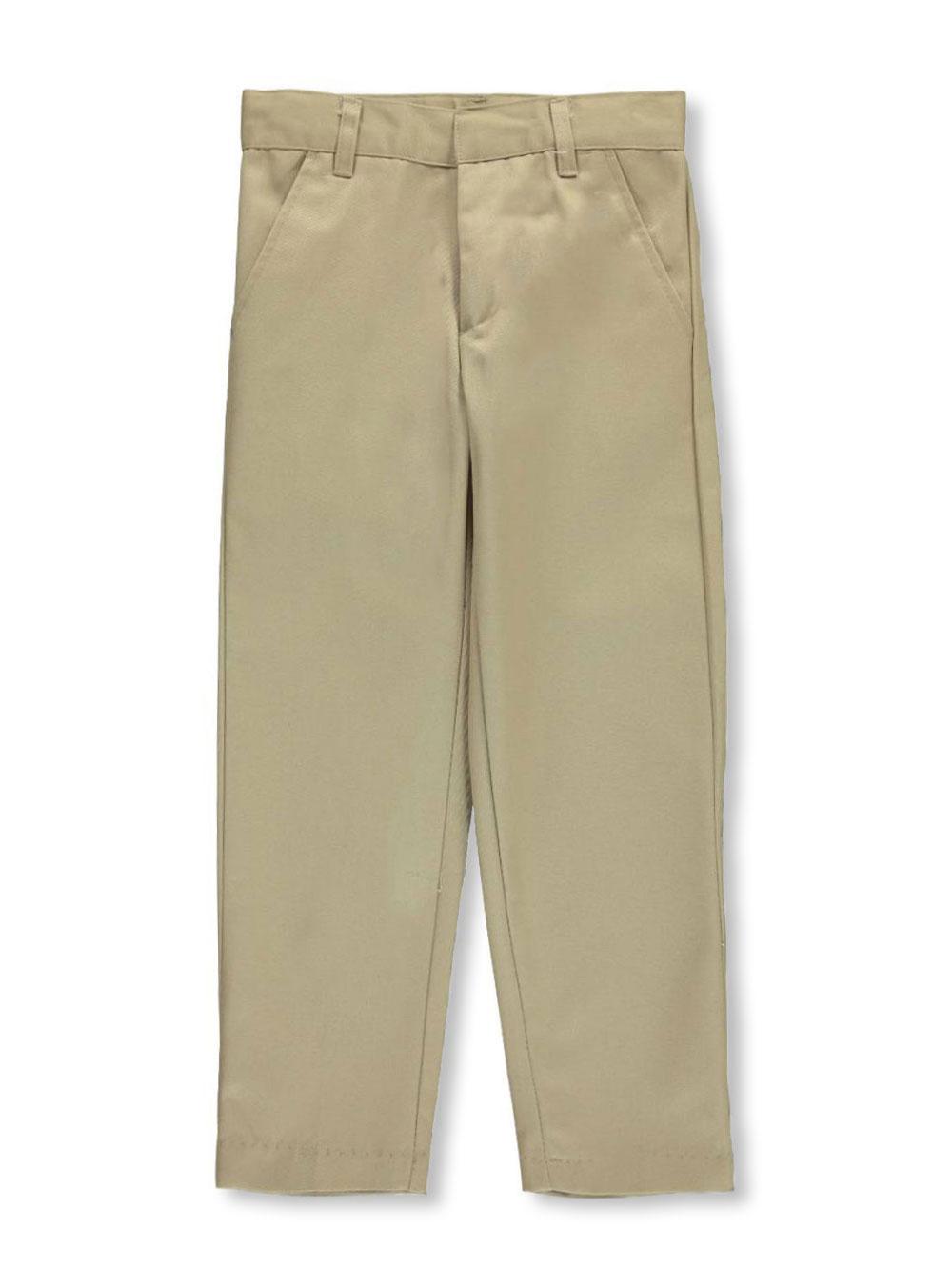 Galaxy Little Boys' School Uniform Slim Pants (Sizes 4 - 7) - khaki, 5