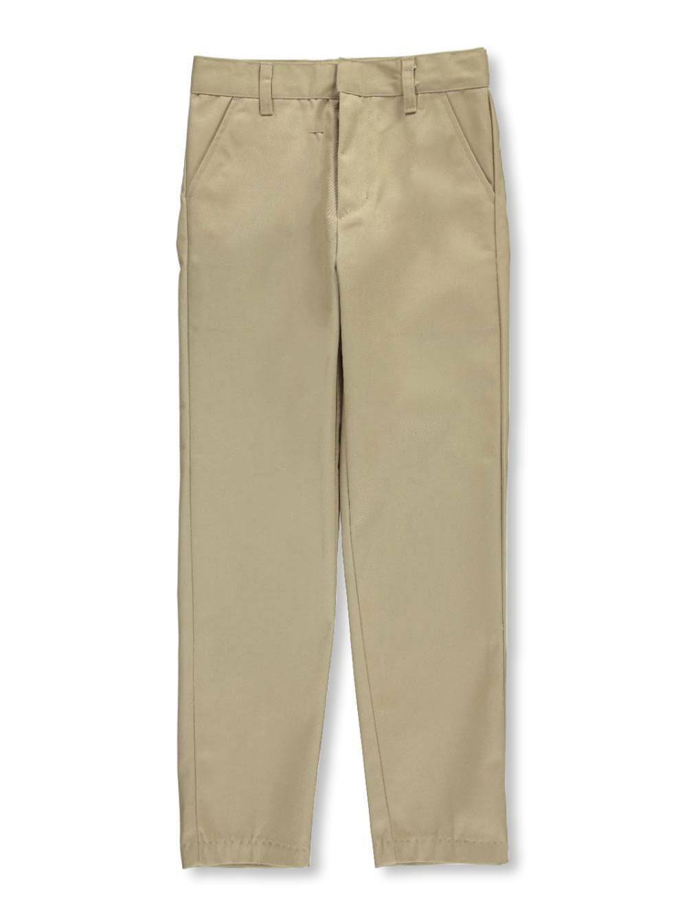 Galaxy Big Boys' School Uniform Slim Pants (Sizes 8 - 20) - khaki, 20