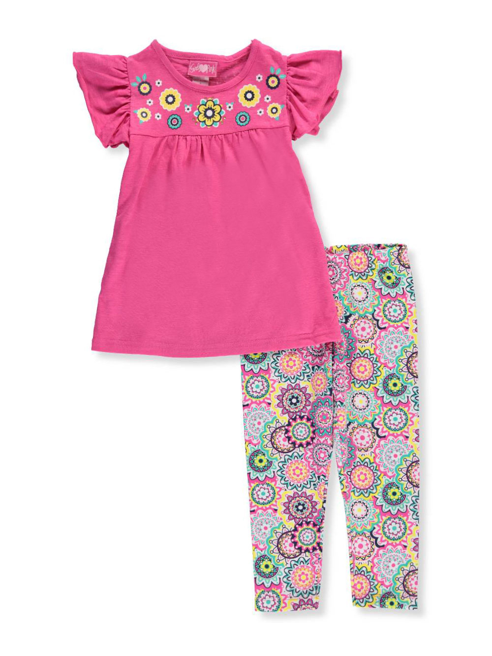 Girls Luv Pink Little Girls' 2-Piece Outfit (Sizes 4 – 6X) - CookiesKids.com
