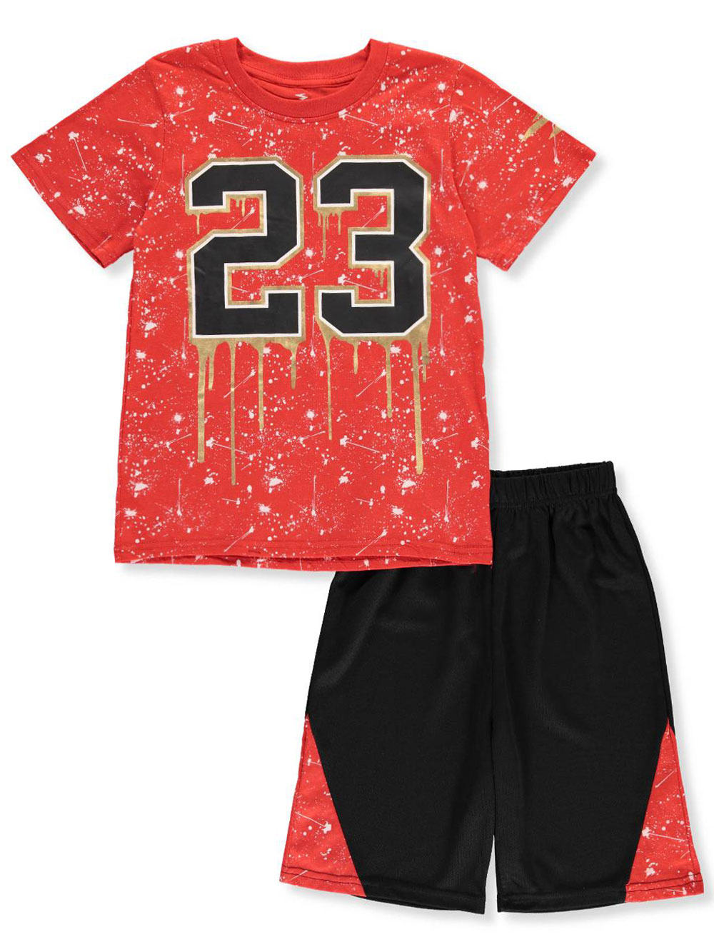 82035c599 Boys' 2-Piece Shorts Set Outfit by S1ope in blue/black and red/black ...