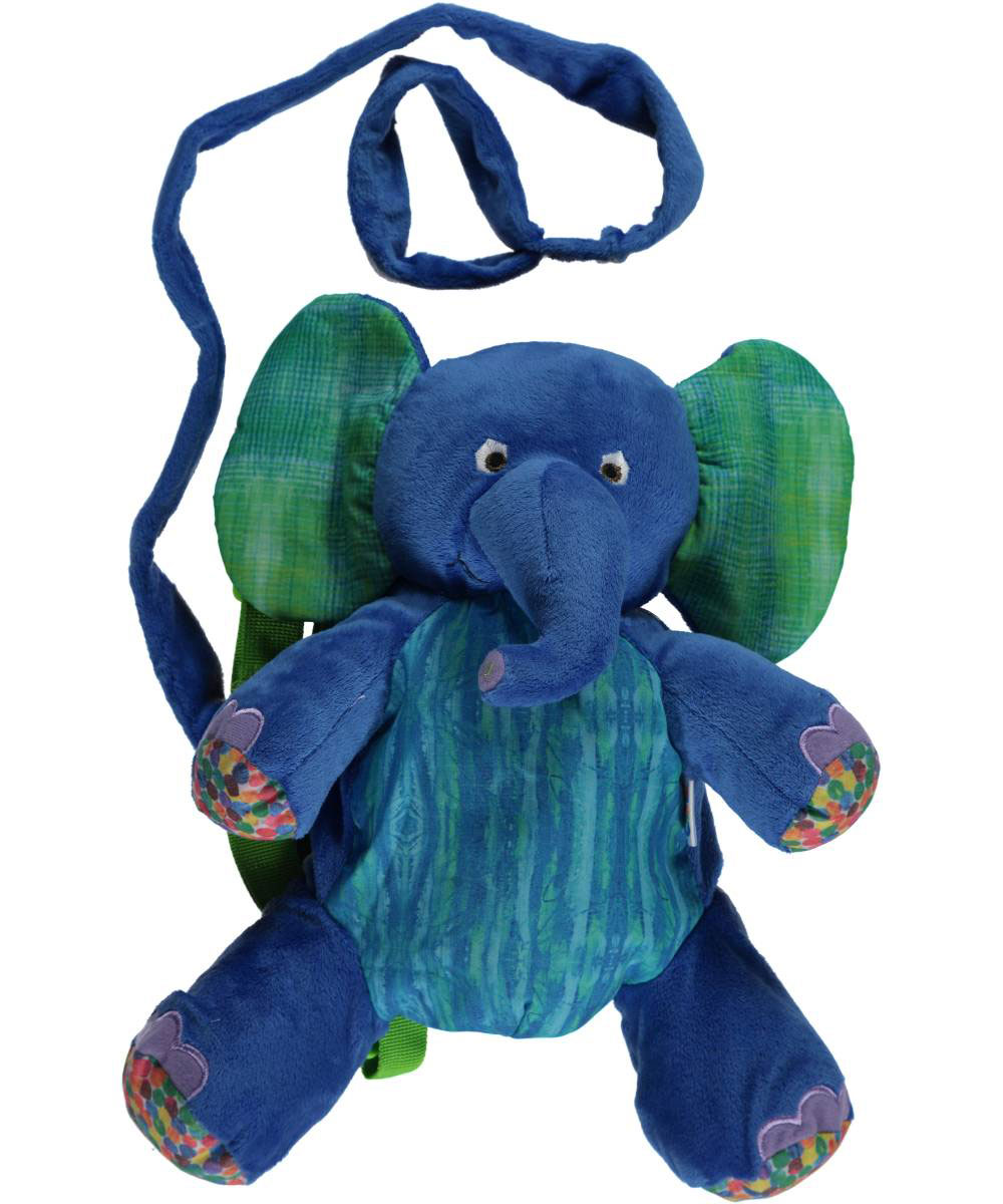 Image of The World of Eric Carle Blue Elephant 2in1 Backpack Harness  royal blue one size