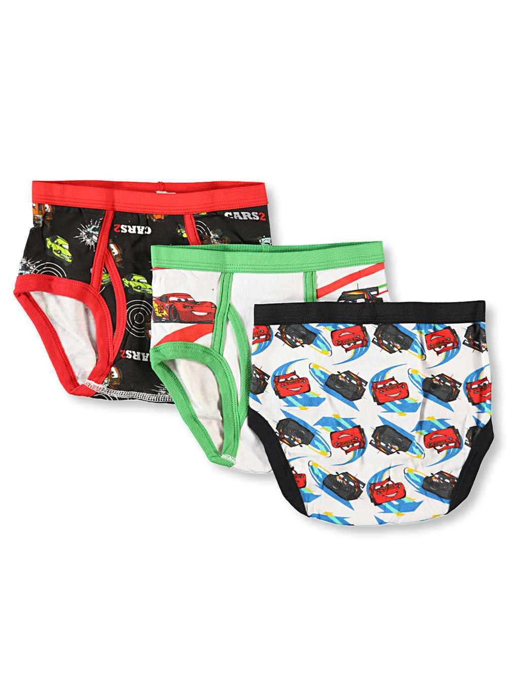 "Disney Cars ""Flipside"" 3-Pack Boys Briefs (Sizes 4 - 7) at Sears.com"