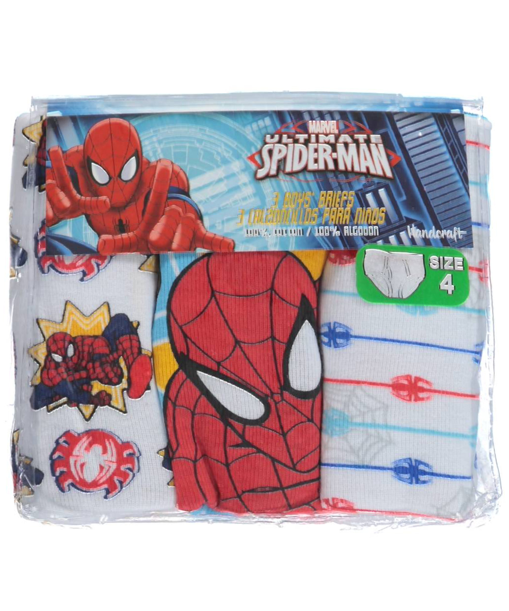 Image of SpiderMan Little Boys Spider Justice 3Pack Briefs Sizes 4  7