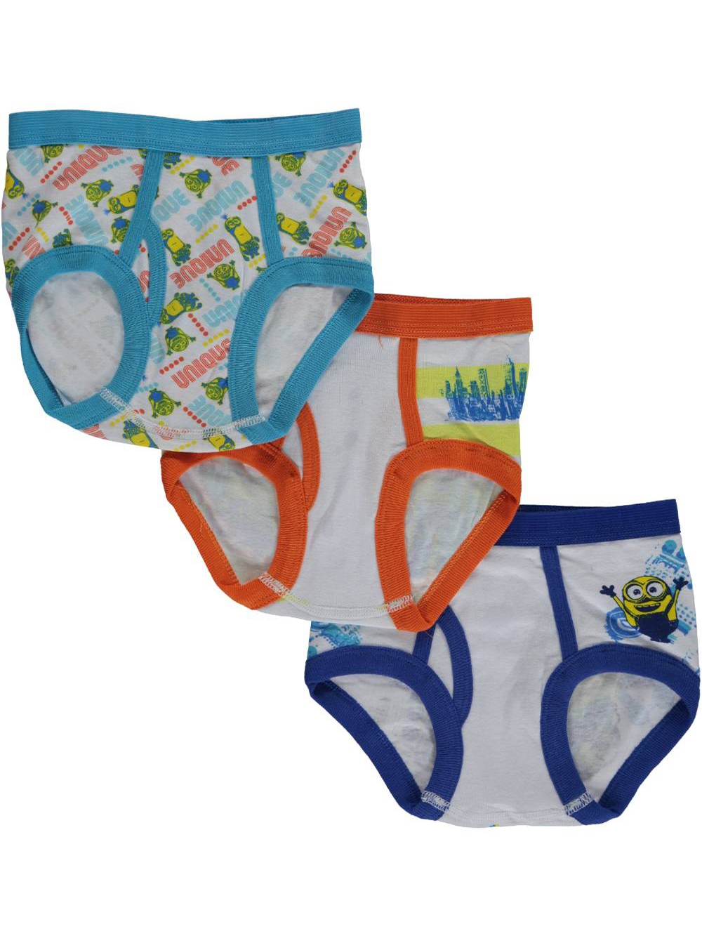 Image of Minions Little Boys Toddler Character Highlight 3Pack Briefs Sizes 2T  4T  whiteyellow 4t