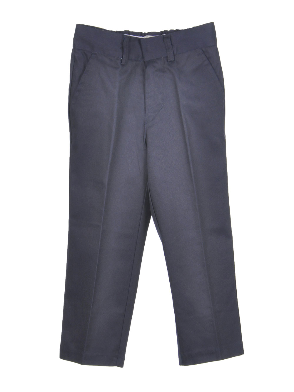 Image of Preferred School Uniforms Little Boys Double Knee Flat Front Pants Sizes 4  7  midnight navy 4