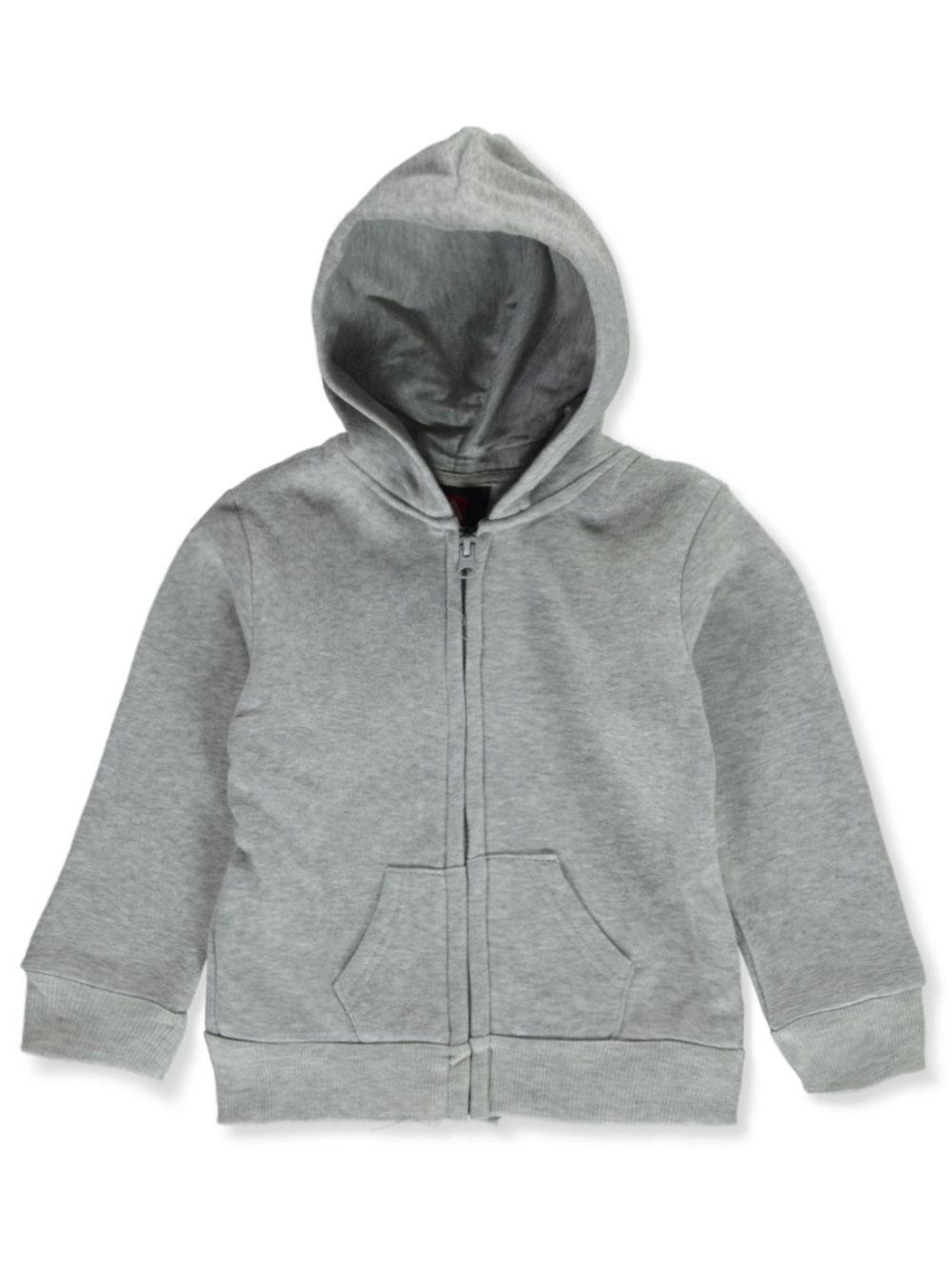 Boys' Fleece Zip Up Hoodie by Roadblock in black, charcoal gray, heather gray and navy
