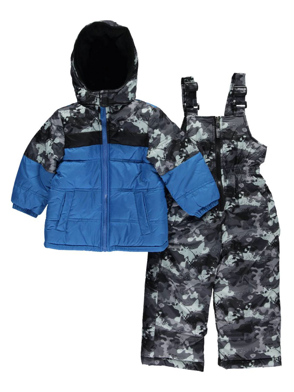 Image of iXtreme Baby Boys Hidden Trail 2Piece Snowsuit  blue 12 months