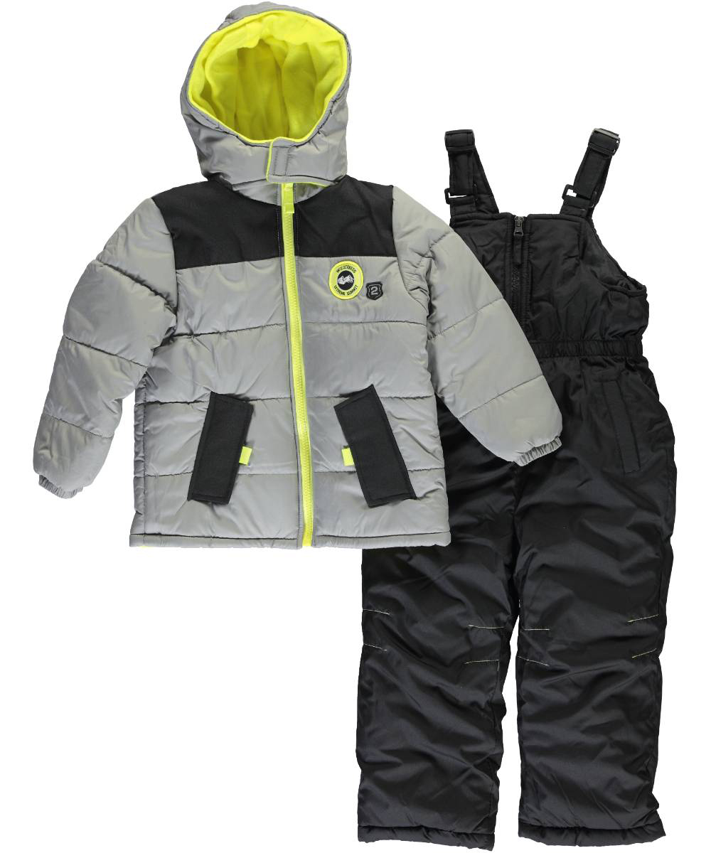 Image of iXtreme Little Boys Toddler Hayden 2Piece Snowsuit Sizes 2T  4T  charcoal gray 2t
