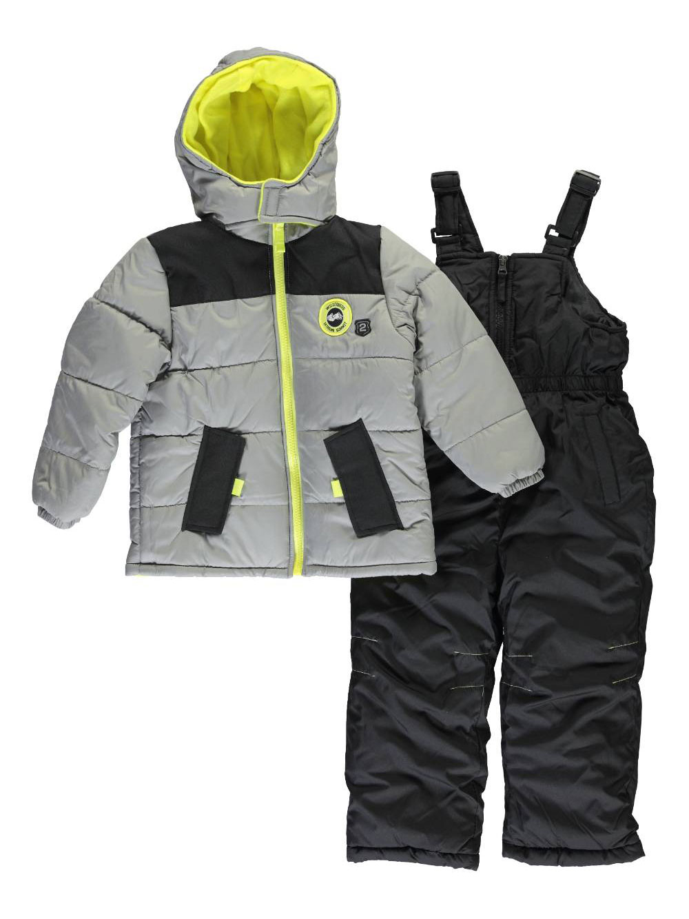 Image of iXtreme Little Boys Hayden 2Piece Snowsuit Sizes 4  7  charcoal gray 5