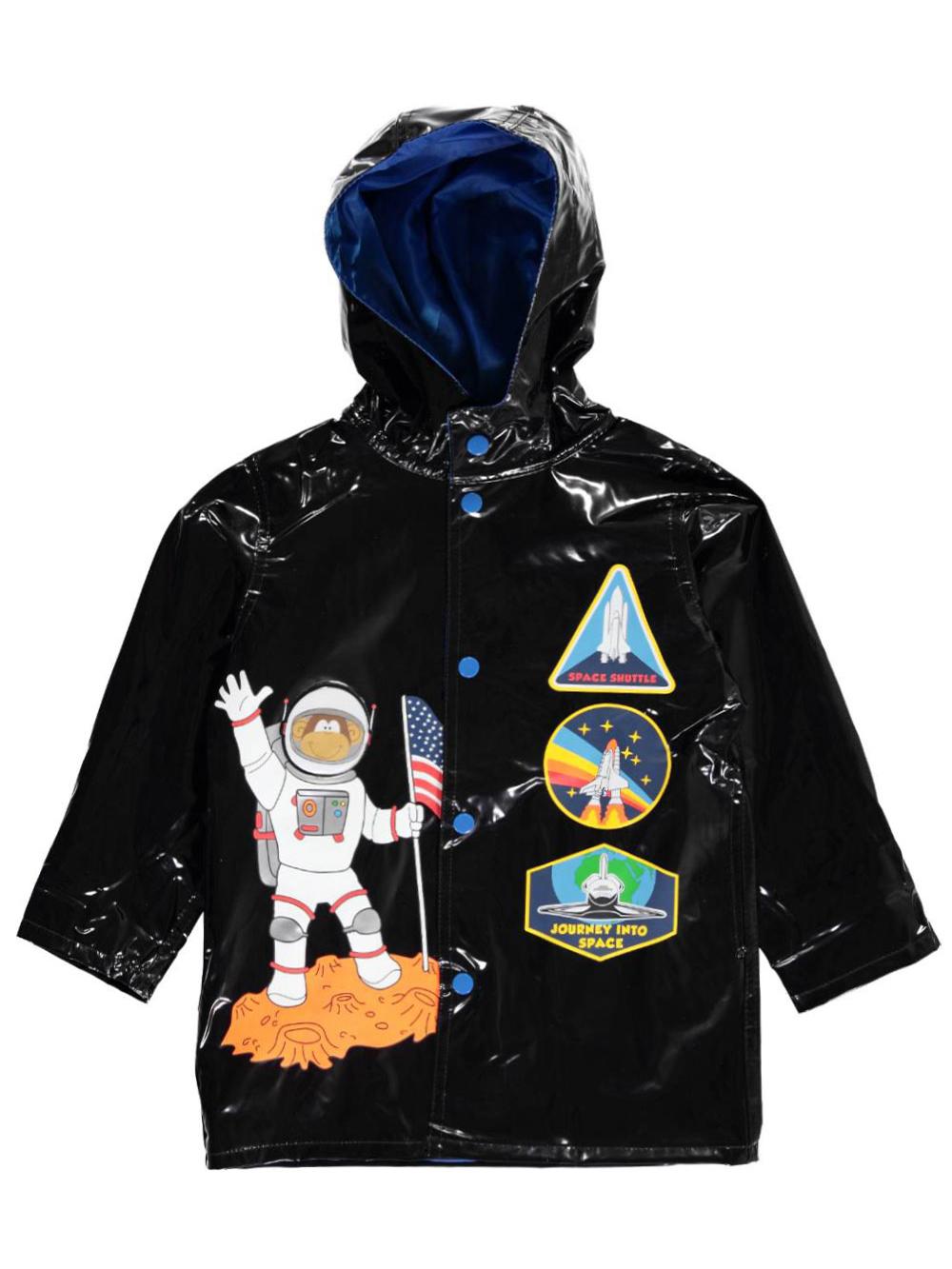 "8ece03e89 Wippette Little Boys' Toddler ""Jr. Astronaut"" Rain Jacket (Sizes 2T – 4T)"