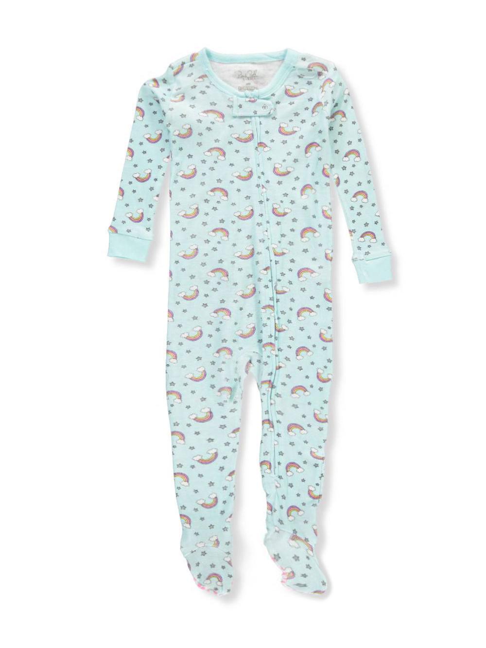 9cf19b8f7 Rene Rofe Baby Girls' 1-Piece Footed Pajamas