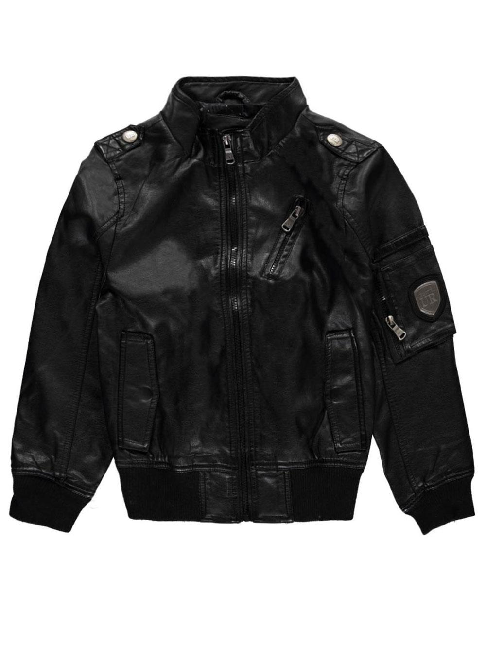 Image of Urban Republic Big Boys FauxLeather Mode Jacket Sizes 8  20  black 8
