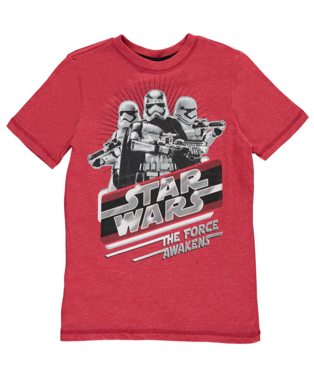 Image of Star Wars Big Boys The Force Awakens TShirt Sizes 8  20
