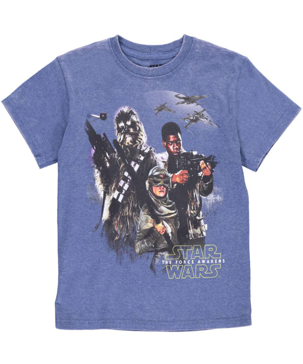 Image of Star Wars Little Boys Force Trio TShirt Sizes 4  7